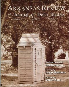 cover image: sepia tone outhouse
